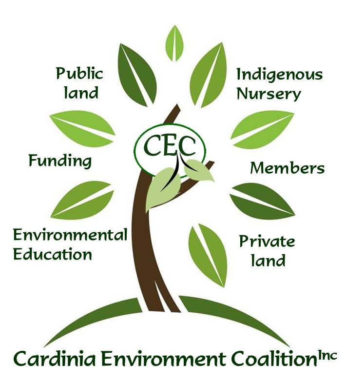 CEC tree - public land, indigenous nursery, members, private land, environmental education, funding, public land